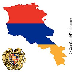 Armenia Flag - Flag and coat of arms of the Republic of...