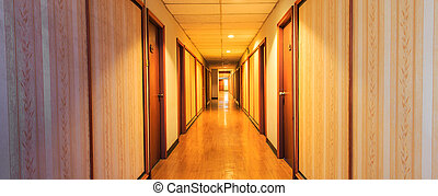 Perspective of the corridor and doorframe