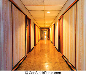 Perspective of the corridor and doorframe