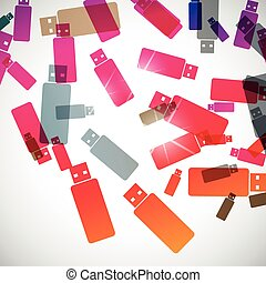 abstract background: usb
