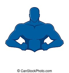 Muscle man figure - Vector illustration of a muscular body
