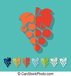 Flat design: grapes