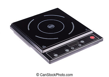 Electrical hob isolated on the white background