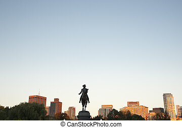 The George Washington Monument  Boston Public Garden,