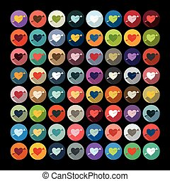Flat design: heart