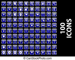 Glossy Icons - 100 Glossy icons Available in jpeg and eps8