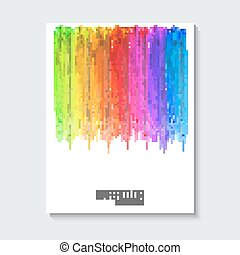 Striped hand drawn watercolor background Vector version...
