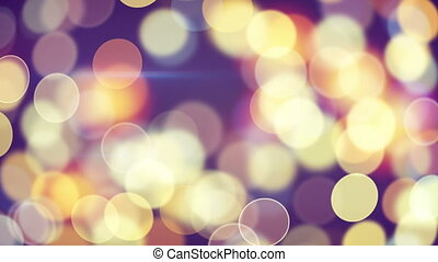 beautiful circle bokeh lights loop