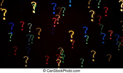 Question marks blinking - Colorful question mark blinking...