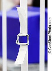 Nylon strapping - Close up heavy duty white color nylon...