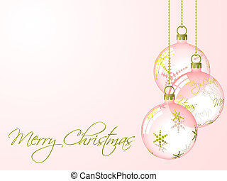 Christmas Baubles - Christmas baubles illustration....