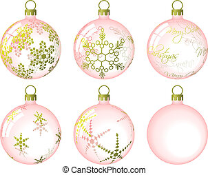 Christmas Baubles - Set of Christmas baubles. Available in...