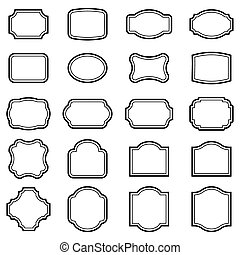 Vintage frames - Set of vintage frames on a white background...