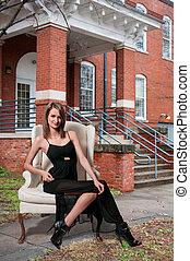 Beautiful Woman - Beautiful young attractive woman modeling...