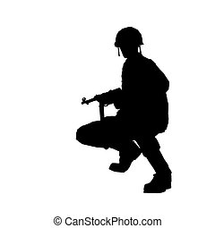 SOLDIER - Soldier silhouette with helmet made in 3d software