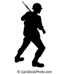 SOLDIER - soldier with bayonet made in 3d software