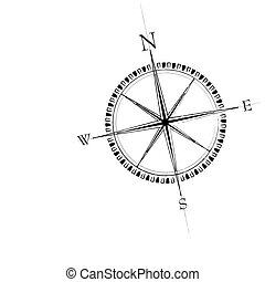 Compass Rose - Old compass rose. Available in both jpeg and...