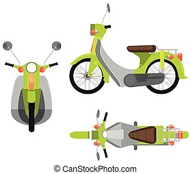 Motorcycle - Illustration of different view of a motorcycle