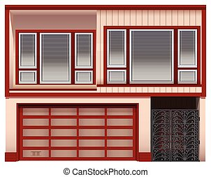 Two stories house - Illustration of a two stories house