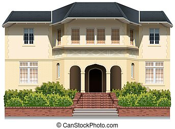 House - Illustration of an elegance house