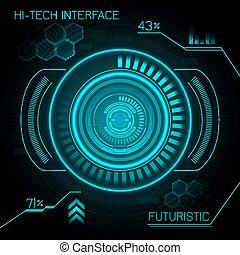 Hud Futuristic Background - Hud hi-tech futuristic dashboard...