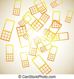 abstract background: phone