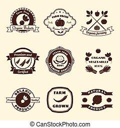 Vegetable Label Set