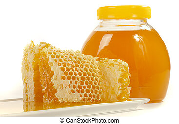 Honeycomb with natural  honey