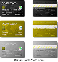 Debit Cards - Set of debit cards available in both jpeg and...