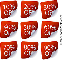 Discount Labels - Set of discount labels available in both...