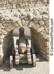 Old canon at an Ottoman fort - Old abandoned napoleonic...