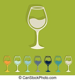 Flat design: wineglass