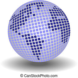 Globe made up from small squares. Available in jpeg and eps8...