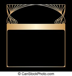 Vector art nouveau frame with space for text