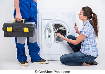 Washing - Breakage. Repairman came to repair a washing...