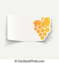 realistic design element: grapes