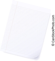Lined paper - Illustration of lined paper. Available in both...