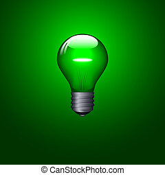 Lightbulb - Green lightbulb design. Available in both jpeg...