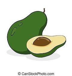 Avocado Fruit - Vector illustration of an avocado fruit