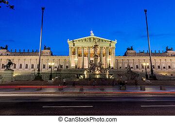 austria, vienna, parliament - parliament in vienna, austria....