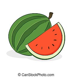 Watermelon Fruit - vector illustration of a watermelon