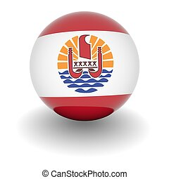 High resolution ball with flag of French Polynesia - 3D Ball...
