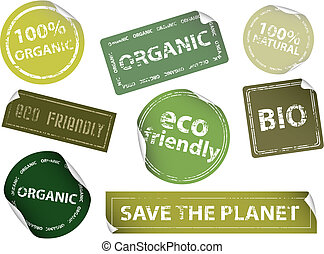 Eco-Friendly Labels - Set of eco-friendly labels. Available...