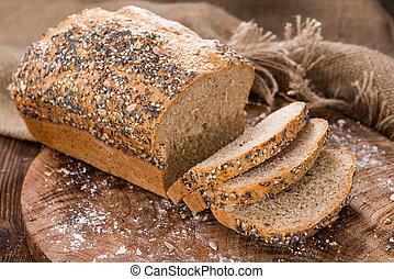 caseiro, pão, de, pão,