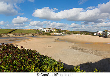 Porth beach Newquay North Cornwall - Porth beach Newquay...