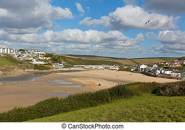 Porth beach Newquay Cornwall uk - Porth beach Newquay...