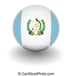 High resolution ball with flag of Guatemala - 3D Ball with...