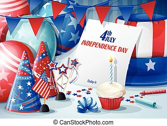 Greeting Card Independence Day July 4