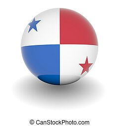 High resolution ball with flag of Panama - 3D Ball with Flag...