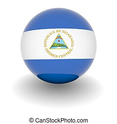 High resolution ball with flag of Nicaragua - 3D Ball with...